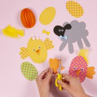 Making Card Easter Chicks and Easter Lambs from our Easter Kit