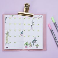A decorated weekly Calendar for a Bullet Journal and a Planner