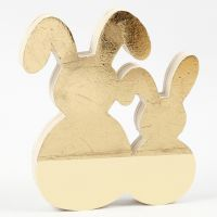 Easter Bunnies decorated with Gold Deco Foil and Craft Paint