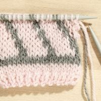 How to do stranded Fair Isle Knitting with two Colours