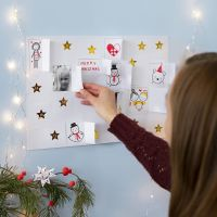 Make your own Christmas Calendar with Drawings, Stickers and Pictures
