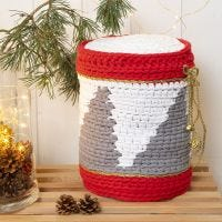 A crocheted Drum from Cotton Tube Yarn