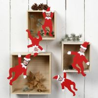 Personalised decorative Elves with Photos of the Family Members