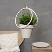 A hanger made from bamboo rings