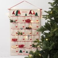 Traditional Advent calendar from a canvas hanging organiser