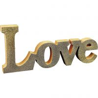 A painted Word with Glitter
