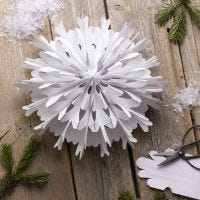 A snowflake star from paper bags