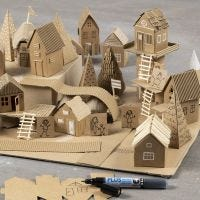 Build your very own city from recycled materials and card