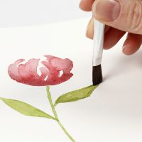 How to paint watercolours with smooth brush strokes