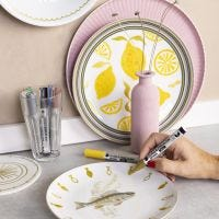 Revive old porcelain with glass & porcelain markers